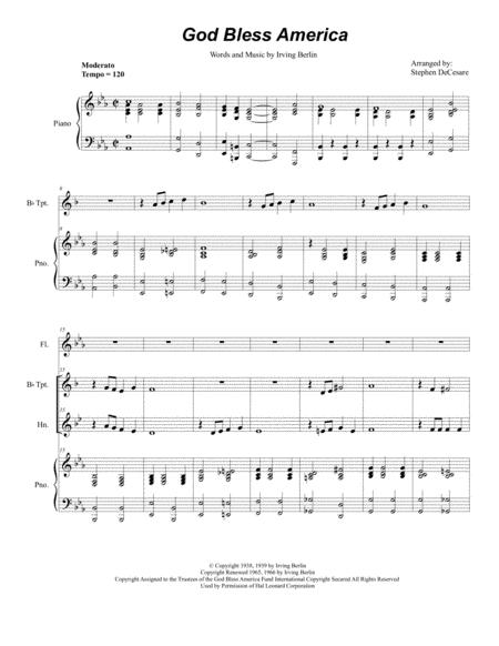 God Bless America (Duet for Bb-Trumpet and French Horn)