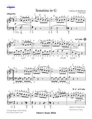 Sonatina in G by BEETHOVEN