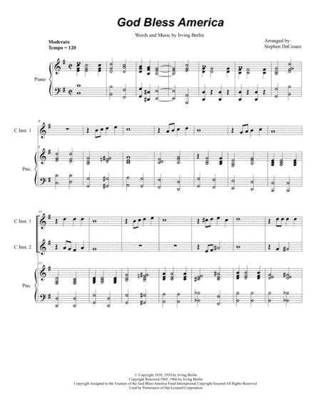 God Bless America (Duet for C-Instruments)