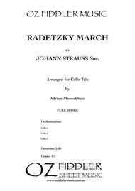 Radetzky March, by Johann Strauss Snr., arranged for 3 Cellos by Adrian Mansukhani