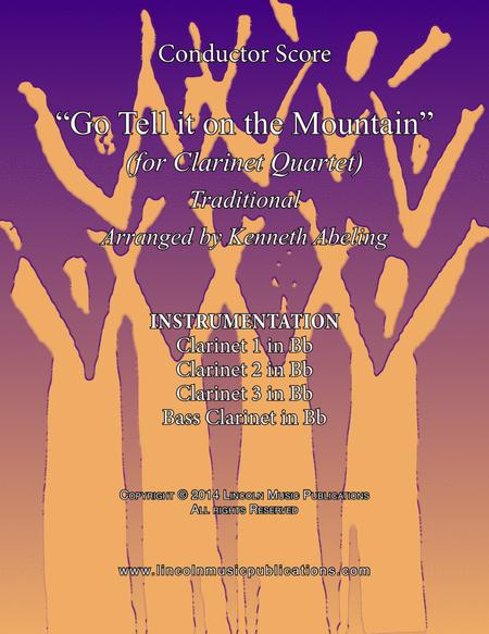 Go Tell it on the Mountain (for Clarinet Quartet)