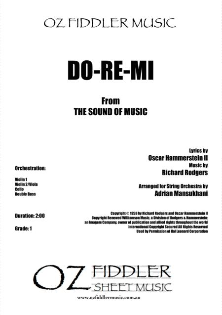 Do-Re-Mi, arranged for Young String Orchestra