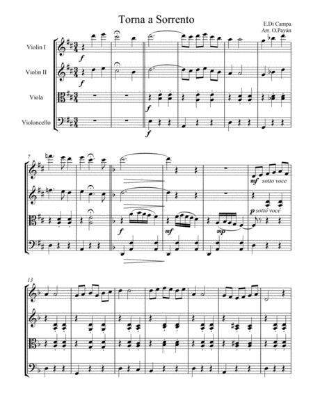 Torna a Sorrento for String Quartet