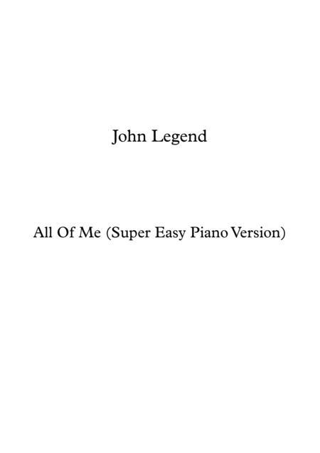 All Of Me (Super Easy Piano Version)