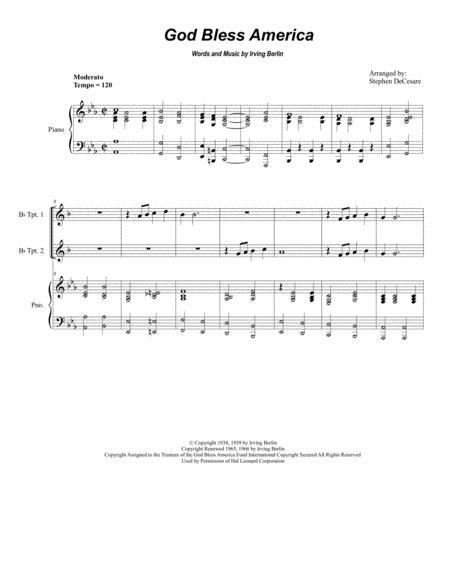God Bless America (for Brass Quartet)