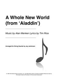 A Whole New World (from 'Aladdin') for String Quartet