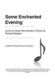 Some Enchanted Evening for String Quartet