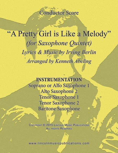 A Pretty Girl is Like a Melody (for Saxophone Quintet)