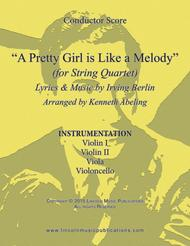 A Pretty Girl is Like a Melody (for String Quartet)