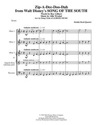 Zip-A-Dee-Doo-Dah from Walt Disney's SONG OF THE SOUTH for Double Reed Quartet