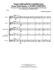 Supercalifragilisticexpialidocious from Walt Disney's MARY POPPINS for Double Reed Quartet