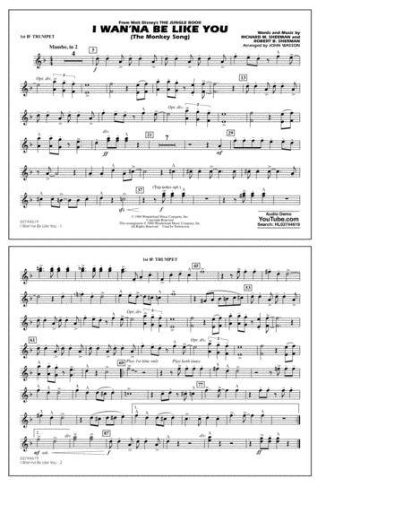 Download I Wan'na Be Like You - 1st Bb Trumpet Sheet Music By Robert