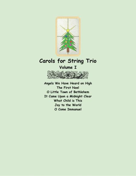 Carols for String Trio (two violins and cello), Volume I