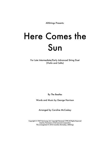 Here Comes The Sun - Violin and Cello Duet