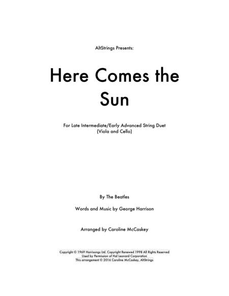 Here Comes The Sun - Viola and Cello Duet