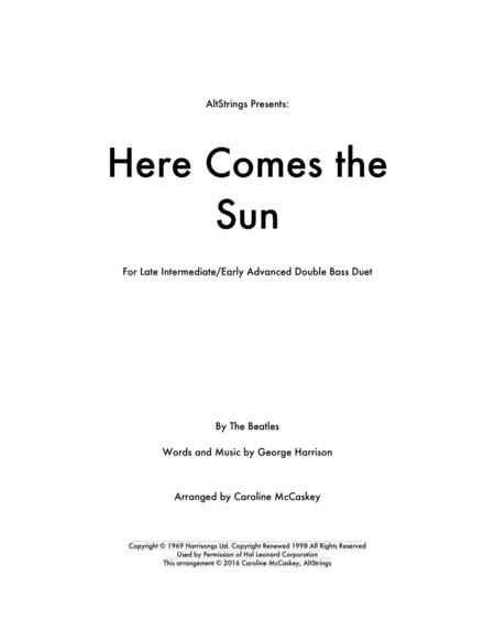 Here Comes The Sun - Double Bass Duet