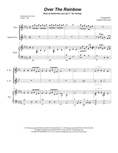 Over The Rainbow (from The Wizard Of Oz) (Duet for Soprano and Alto Saxophone)