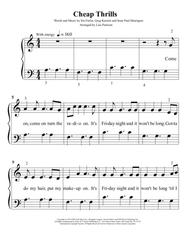 Cheap Thrills - Easy Piano