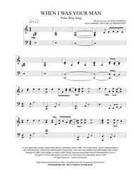 When I Was Your Man (Short Piano Solo)