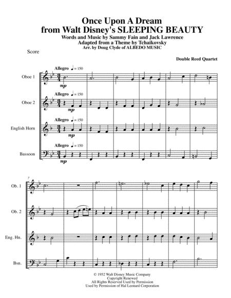 Once Upon A Dream from Walt Disney's SLEEPING BEAUTY for Double Reed Quartet