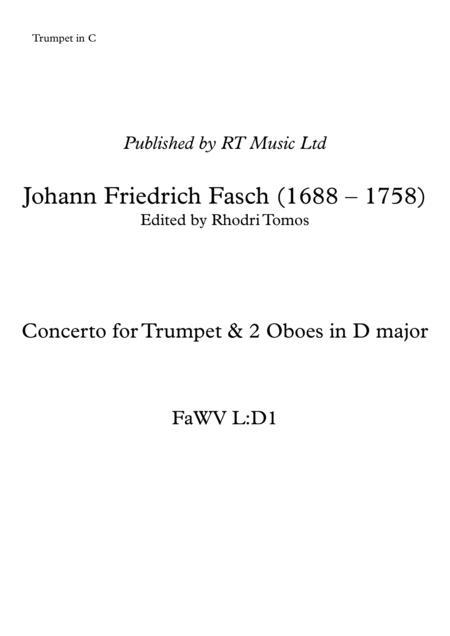 Fasch Trumpet Concerto in D - solo parts