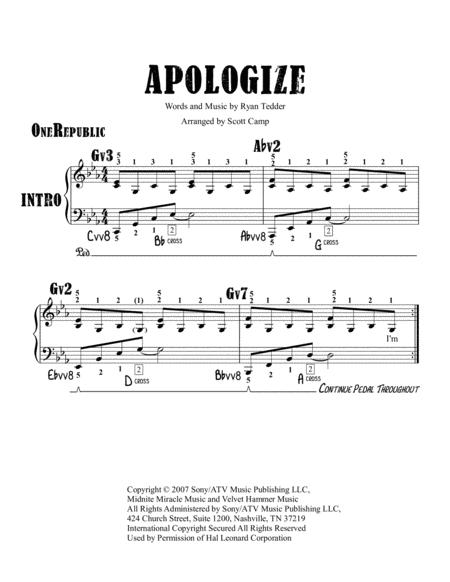 Apologize ONE REPUBLIC