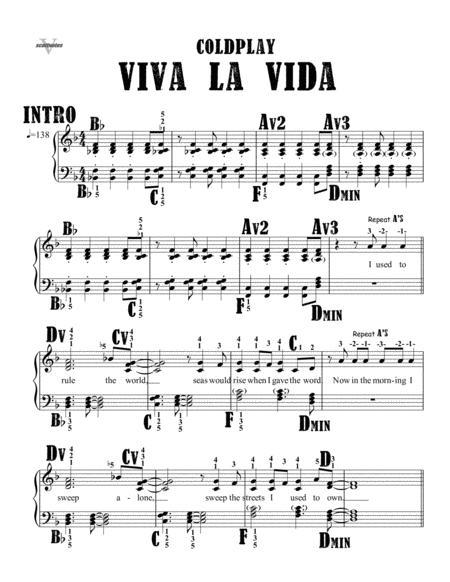 Download Viva La Vida Sheet Music By Coldplay - Sheet Music Plus
