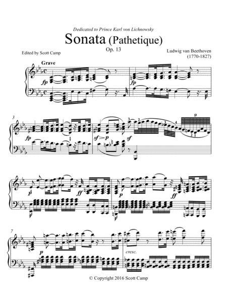 Sonata Pathetique I Grave/Allegro, Op. 13