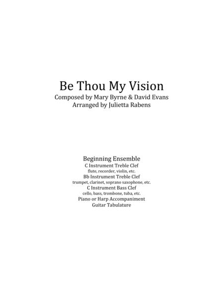 Download Be Thou My Vision In G Major For Easy Ensemble Sheet Music