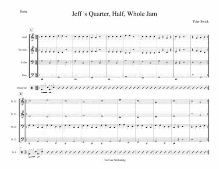 Jeff's Quarter, Whole, Half Jam for Steel Band