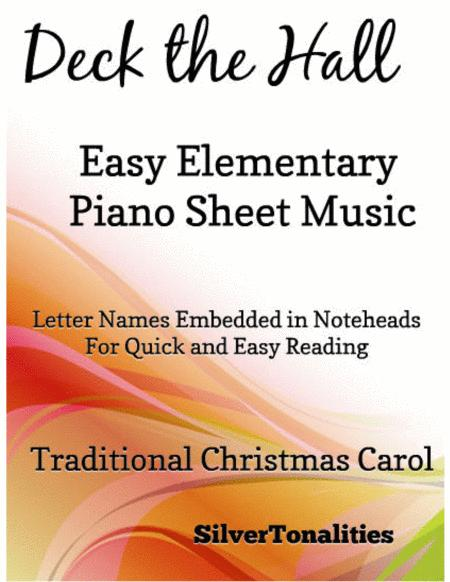 Deck the Hall Easy Elementary Piano Sheet Music