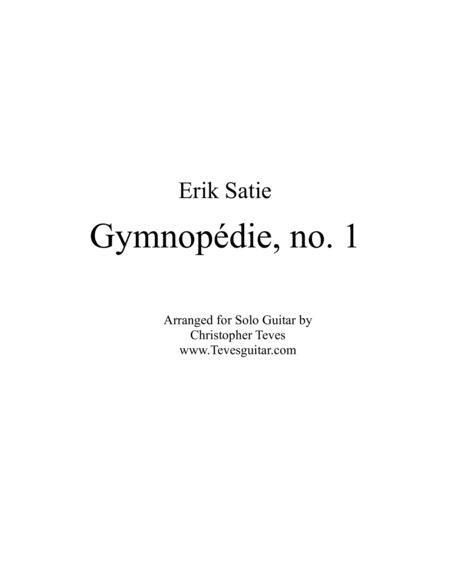 Gymnopédie, no. 1 for solo guitar
