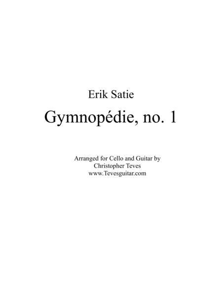 Gymnopédie, no. 1, for cello and guitar