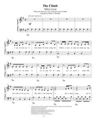 piano letter notes for the climb the climb easy piano sheet by miley cyrus 24915