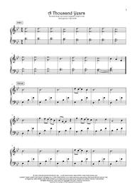 A Thousand Years (in original key)