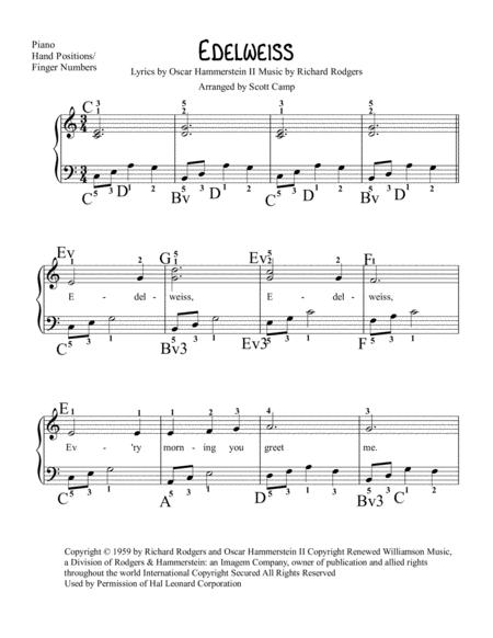 Download Edelweiss Sheet Music By Rodgers & Hammerstein - Sheet ...