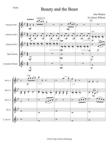 Beauty And The Beast - Clarinet Choir