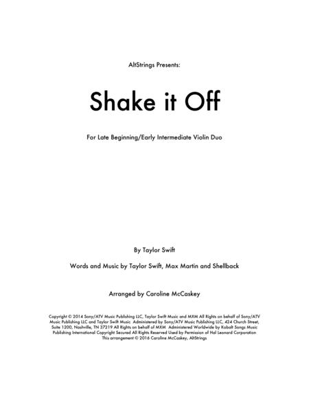 Shake It Off - Violin Duet