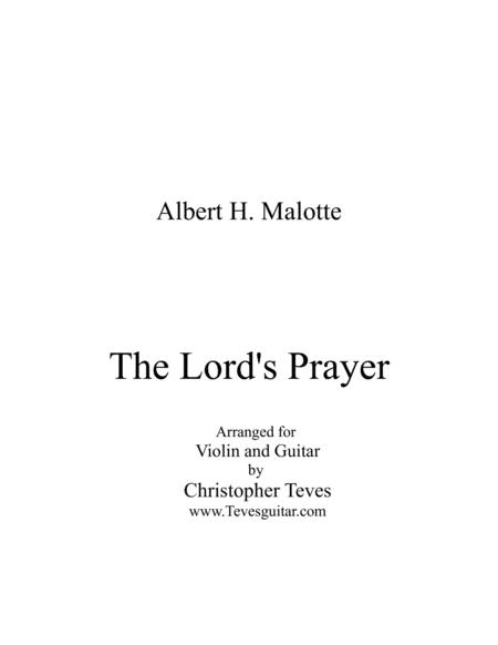 The Lord's Prayer, for violin and guitar