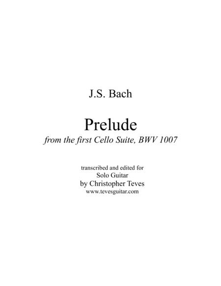 Prelude, from the first Cello Suite, BWV 1007, solo guitar