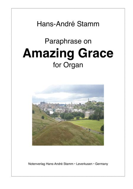 Paraphase on Amazing Grace for organ