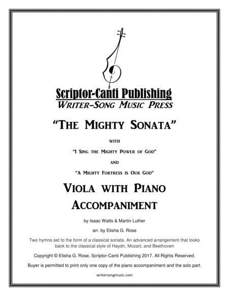 (I Sing The Mighty Power Of God & A Mighty Fortress Is Our God) The Mighty Sonata - Viola