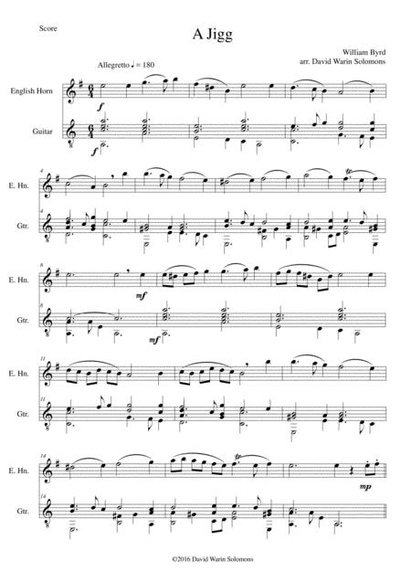 Byrd's Jigg for cor anglais and guitar