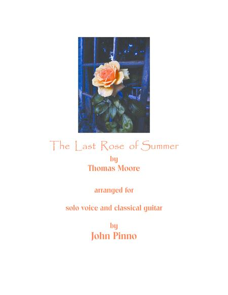 The Last Rose of Summer for voice and classical guitar