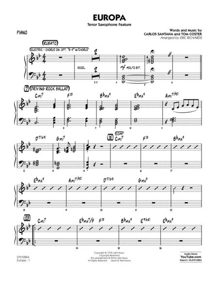 Europa - Piano