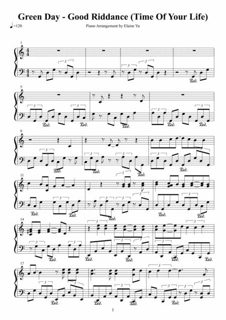 Download Good Riddance (Time Of Your Life) Sheet Music By Green Day ...