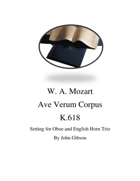 Mozart - Ave Verum Corpus for Oboe / English Horn Trio