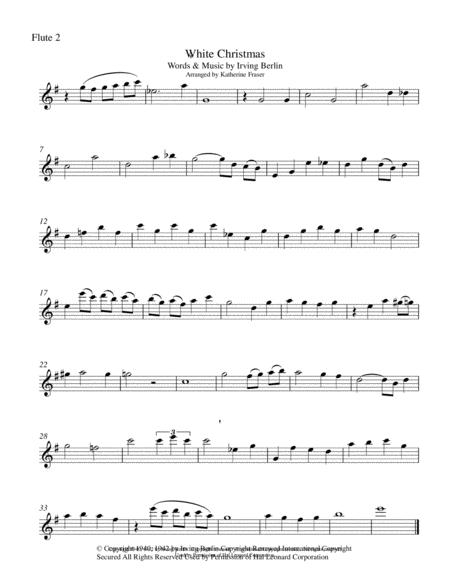 White Christmas for Cello and Two Flutes