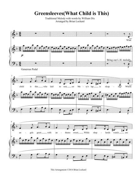 Download Greensleeveswhat Child Is This Piano Solo Or Piano And