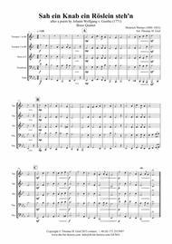 Sah ein Knab ein Roeslein stehn - German Folk Song - Brass Quintet